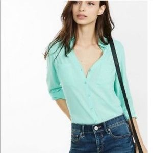 Express The Portifino Shirt Mint Green Career Med